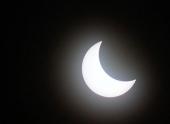 Жители Западной России увидели затмение Солнца