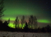 В Латвии наблюдалось северное сияние. Фото