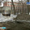Провал грунта в Твери. Видео