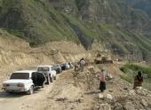 Обвал на дороге отрезал высокогорный район Чечни от внешнего мира