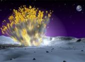 В Луну врезался метеор