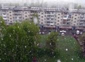 В Кемерово лето началось со снегопада