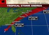 Тропический шторм Андреа нацелился на полуостров Флорида