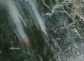Небо над Индонезией снова заволокло смогом