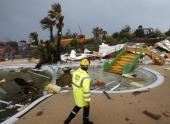 Торнадо обрушился на город Сериньян во Франции
