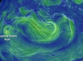 Штормовой тихоокеанский циклон побил рекорд 1977 года