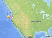 У побережья штата Орагон в США произошло землетрясение