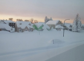 7 часов провели американские подростки под снегом
