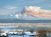 Гигантское облако пепла накрыло Камчатку