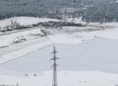 Симферопольское водохранилище застыло из-за аномальных морозов