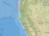 Землетрясение магнитудой 5,7 произошло у побережья Калифорнии