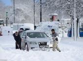 На Англию обрушилась снежная буря