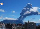 Вулкан Убинас в Перу выбросил столб пепла на высоту 5-ти километров