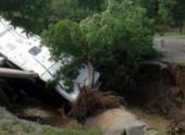 Карстовая воронка на юго-востоке Канады поглотила три трейлера