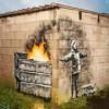 Мальчик, глотает не снежинки, а пепел: В новом граффити Бэнкси рассказал о проблеме экологии в Британии