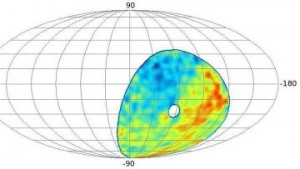 В космических лучах на южном небе обнаружено «горячее пятно»