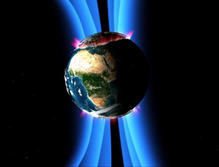 Смещение магнитного поля Земли вызывает появление суперштормов.