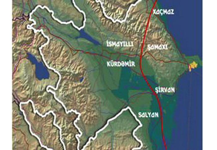Тектонический разлом в Азербайджане - ФОТО
