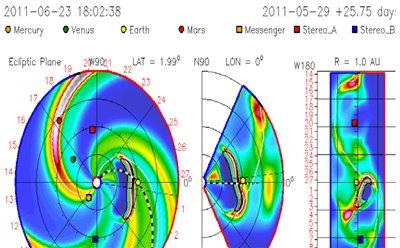 Солнечный выброс энергии - устремился на Землю. 23-24 июня произойдет удар по магнитосфере Земли